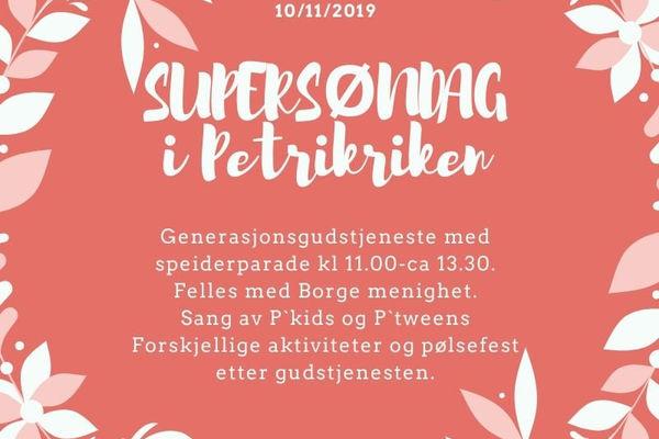 Supersøndag 10. november kl. 11.00